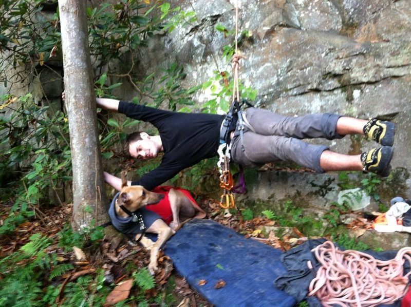 Rock Climbing Photo: Surprise doggy!