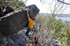Rock Climbing Photo: The move to the lip.  Great problem!  Photo Ian.