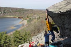 Rock Climbing Photo: The Exfoliator.  Nice photogenic line.  Photo Ian....