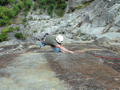 Rock Climbing Photo: John T. on the fifth pitch of Tour of Duty. (Photo...