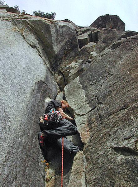 Rock Climbing Photo: Starting P4 of Tour of Duty. (Photo: Defecto)