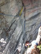 Rock Climbing Photo: following up the crack