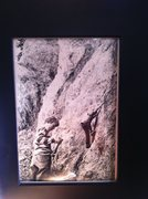 Rock Climbing Photo: A picture of myself holding my fathers old piton h...