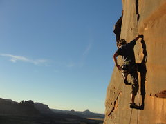 Rock Climbing Photo: Middle Crack, Sunset