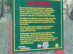 Rock Climbing Photo: Bear Warning