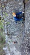 Rock Climbing Photo: Ran Glennon leads P4, Sprax belaying. Photo by Mar...