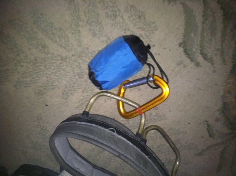 Rock Climbing Photo: Head net, not bee keepers hood