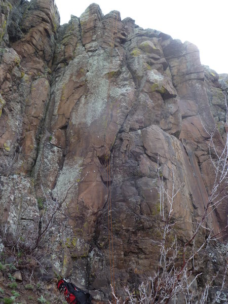 Rock Climbing Photo: The climb is the line just to the left of the rope...