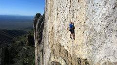 Rock Climbing Photo: Ben Eaton works the start of Martini