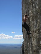 Rock Climbing Photo: Working out the tricky start.