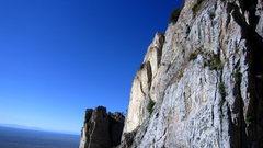 Rock Climbing Photo: Triston enjoys a quick run up the 5.7 warm up.