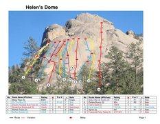 Rock Climbing Photo: Info on Helen's Dome.