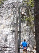 Rock Climbing Photo: Matt on lead