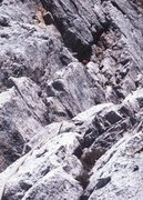 "Rock Climbing Photo: Easy terrain low on the route. Can you find ""..."