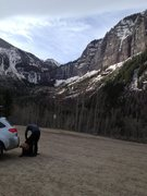 Rock Climbing Photo: Bridalveil at back of valley. Lunacy is out of fra...