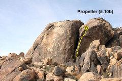 Rock Climbing Photo: Propeller (5.10b), The Cemetery