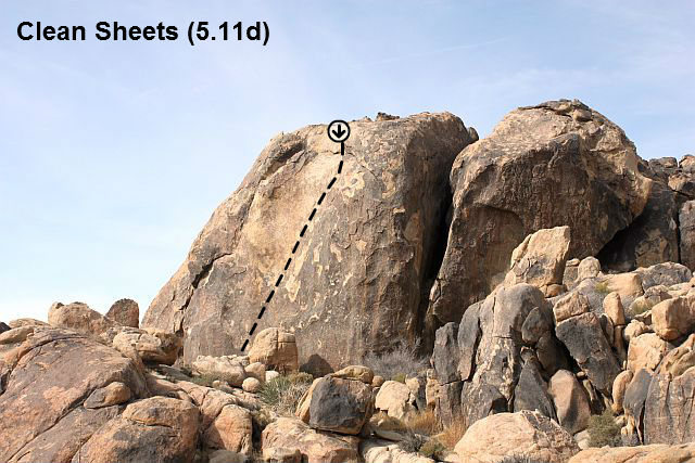 Clean Sheets (5.11d), The Cemetery