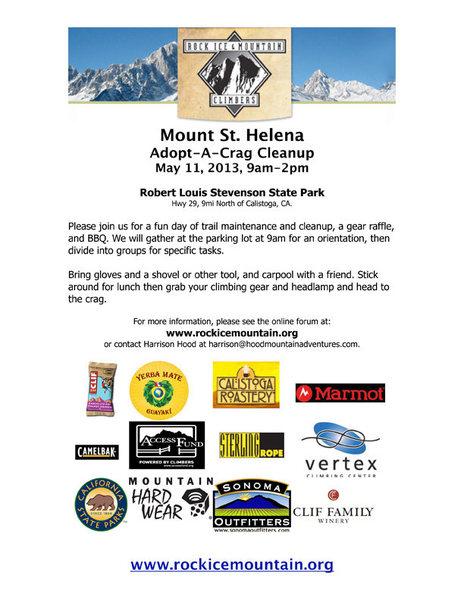 St. Helena Adopt-A-Crag, May 11, 2013