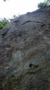 Rock Climbing Photo: Concrete lawn critters upper crack the bottom is s...