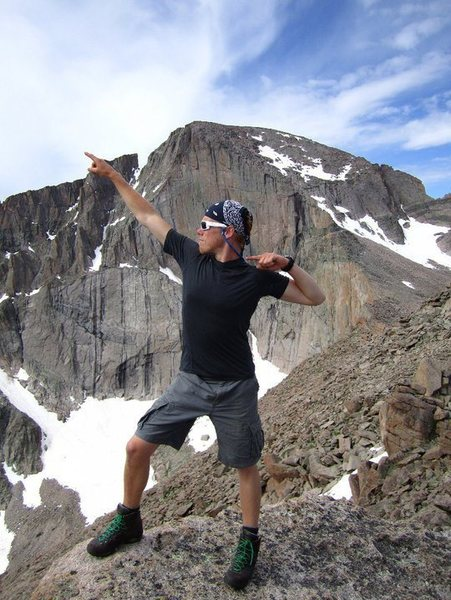 In front of Longs Peak