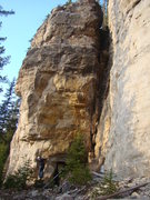 Rock Climbing Photo: Wax On is the route on the left with the orange ro...