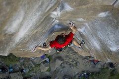 Rock Climbing Photo: Sean feeling through some pure palm