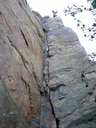 Rock Climbing Photo: Route Canal, 5.9  Clear Creek Canyon, CO