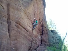 Rock Climbing Photo: Joe on Apache Prize Fighter