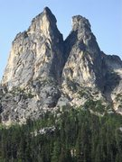Rock Climbing Photo: Early Winter Spires. South Arete goes up the left ...