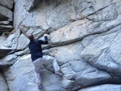 Rock Climbing Photo: little bouldering on a hike