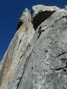 Rock Climbing Photo: Nearing the end of the crack about to deal with th...