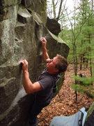 Rock Climbing Photo: David moving up through the crimps