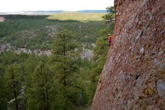 Rock Climbing Photo: The position and exposure on the route are wild.