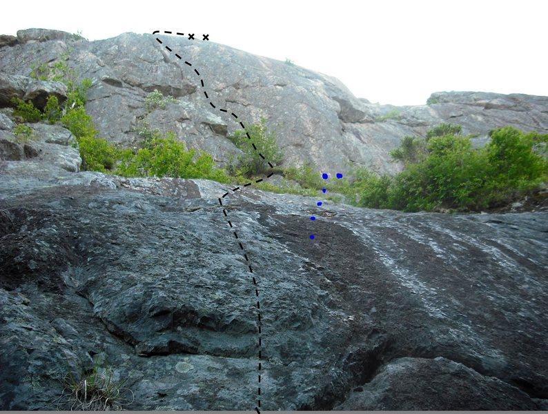 Rock Climbing Photo: Tap Tap - 5.7+ Photo taken from avalonclimbingclub...