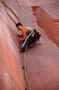 Rock Climbing Photo: Michelle cruising up Blue Sky Mining. April 2011.