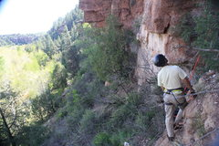 Rock Climbing Photo: The Godfather of AZ climbing, Manny Rangel holding...