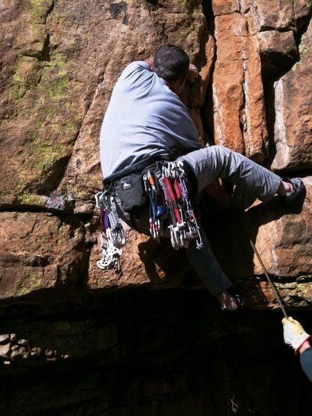 Rock Climbing Photo: Matt on HM.