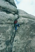 Rock Climbing Photo: Gary, now on cruise control.
