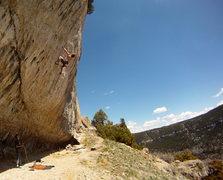 Rock Climbing Photo: Alex Herbert crushing Confessions of a Mask (12d).