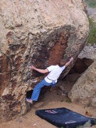 Rock Climbing Photo: Moving right into the business of the problem.