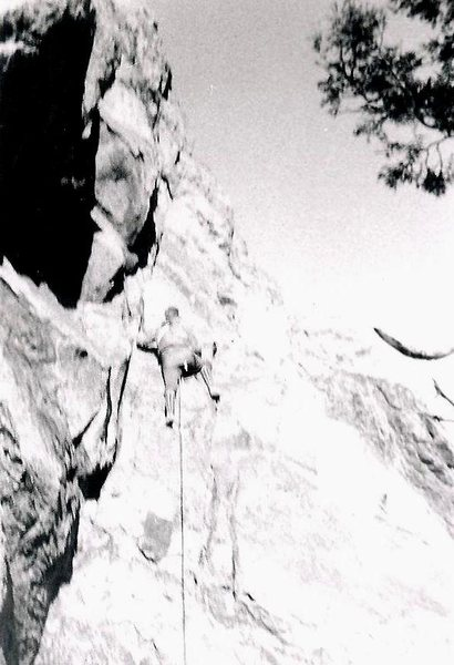 Rock Climbing Photo: Here's a bit of ancient history! Me, leading the s...