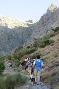 Rock Climbing Photo: Trail to Galayos