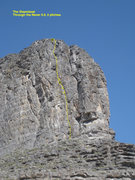 Rock Climbing Photo: The Steamboat. Through the Never 5.9, 2 pitches.