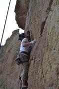 Rock Climbing Photo: Smith Rock 10a Crack. New Testament?