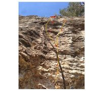 Rock Climbing Photo: This is a photo of lights out. 4 bolt no anchor An...