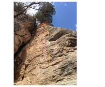 Rock Climbing Photo: This is a pic of Dave's face 5.10c it was a 3 bolt...