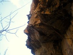 """Rock Climbing Photo: CR getting the """"coveted"""" second ascent!"""