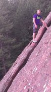 Rock Climbing Photo: Soloing in the flatirons