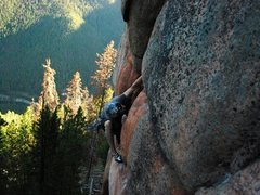 Rock Climbing Photo: A. Fruh on-sighting.