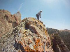Rock Climbing Photo: Approaching the top of Blue Zenith. Sweet run up t...